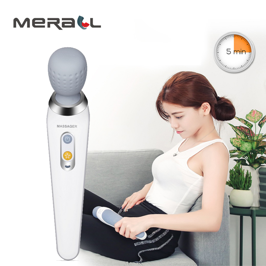 Electric Massager Vibrating Wand Kneading Shoulder Back Neck Massage Stick Shiatsu Body Relaxation Muscle Stimulator Health CareElectric Massager Vibrating Wand Kneading Shoulder Back Neck Massage Stick Shiatsu Body Relaxation Muscle Stimulator Health Care
