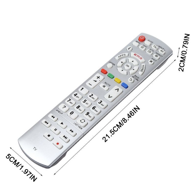 Universal 3D Tv Remote Control Replacement For Panasonic N2Qayb001010 N2Qayb000842 N2Qayb000840 N2Qayb001011