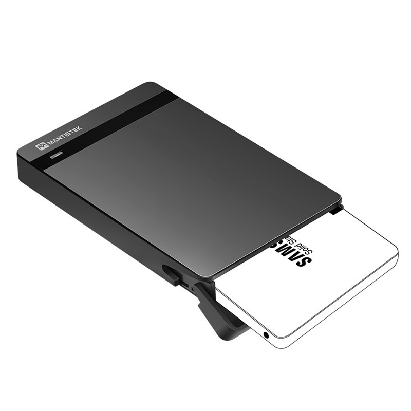 MantisTek Brand Mbox 2.5 HDD Enclosure 2.5 SATA III USB 3.0 SSD Enclosure External HDD Case Support UASP For Mac Win System