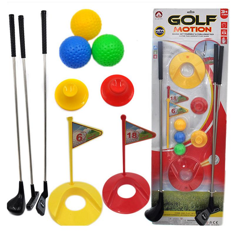 Mini Funny Golf Toy Set Kids Learning Active Early Education Outdoor Sports Exercise Ball Toys Boys And Girls