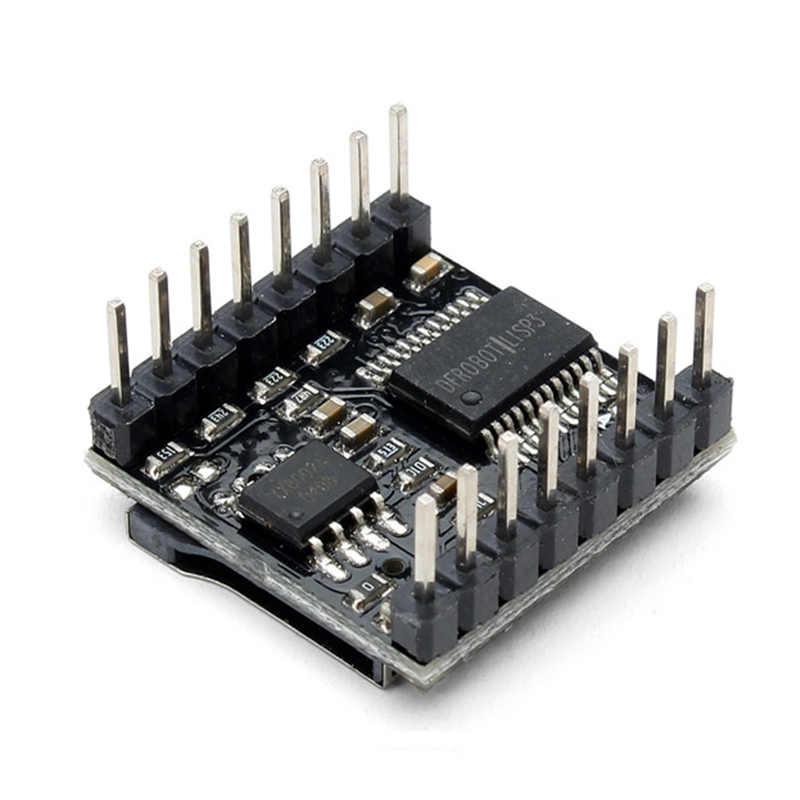 LEORY DFPlayer מיני MP3 נגן מודול עבור Arduino 24-bit DAC פלט קול מודול תמיכה MP3/WAV/ WMA TF כרטיס USB דיסק IO שליטה