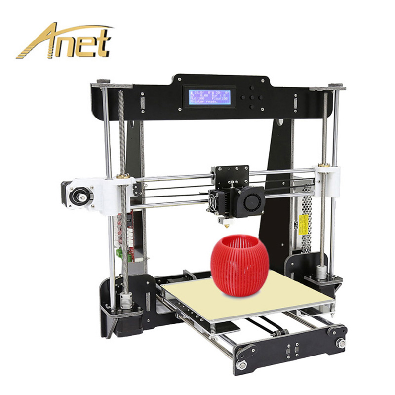 Arcylic Anet A8 3D Printer With Auto Leveling High Precision Desktop FDM 3D Printer Machine With