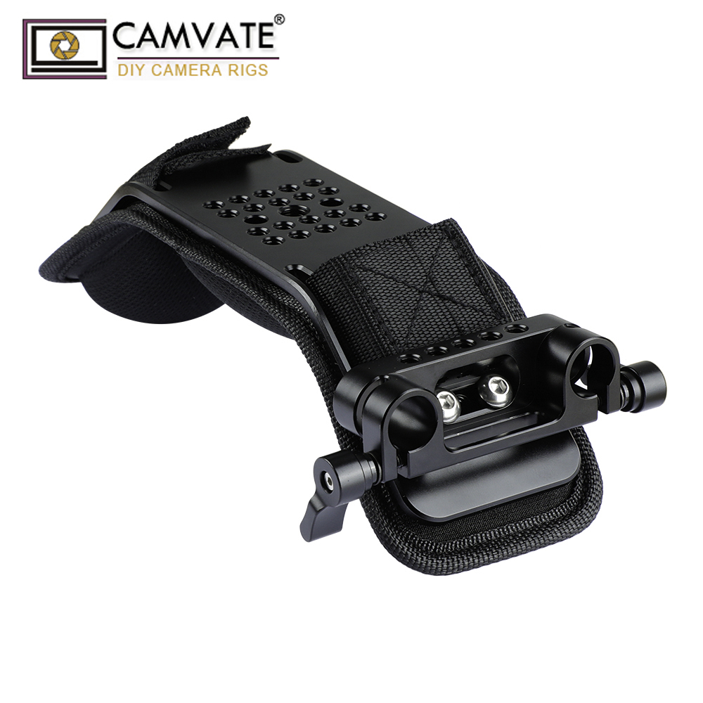 Almofada de Ombro com Haste Braçadeira para 15mm Camvate Dupla Railblock Sistema Apoio C1974