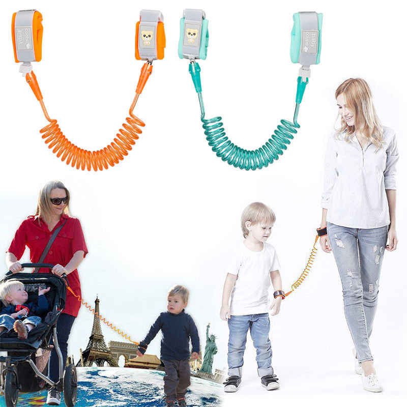 Pudcoco Child Kid Anti-lost Safety Leash Wrist Link Harness Strap Reins Traction Rope 1.5-2.5 M