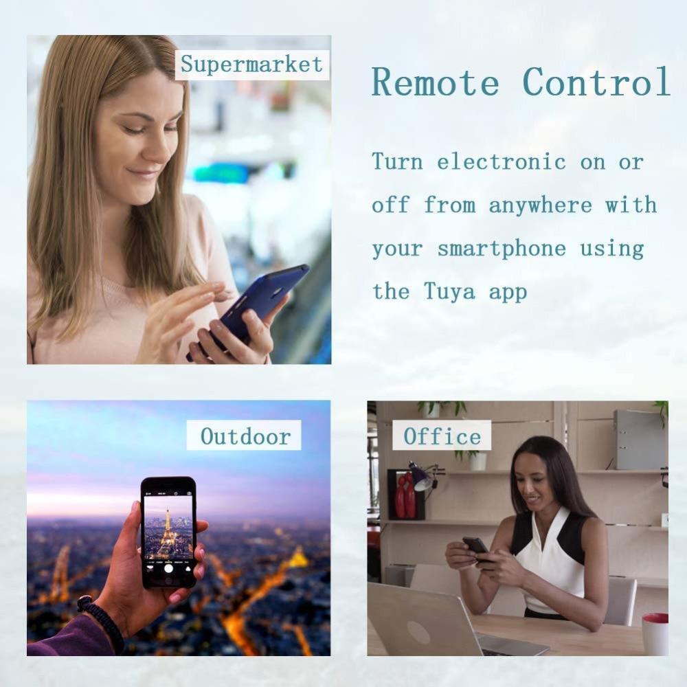 BOAZ inteligente E14 luz de la vela WiFi RGBW Luz de bombilla Led de Control de voz por Alexa eco Google 2,4G WiFi control de APP 1-5 piezas