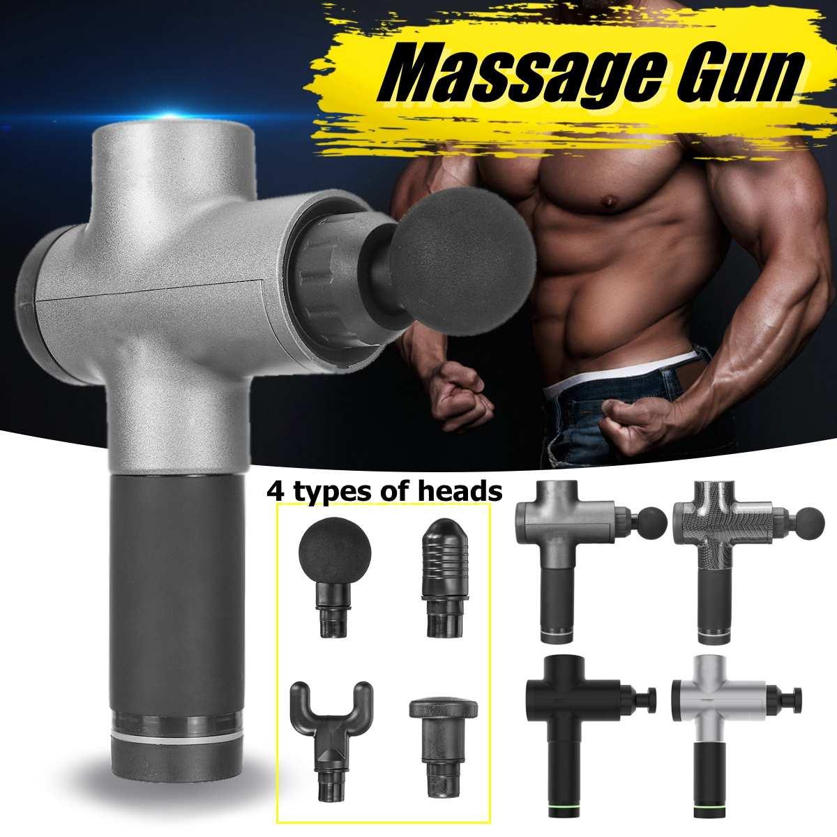 Pistolets de Fascia professionnels masseur de Relaxation musculaire Gym haute fréquence Vibration Massage à Percussion 4 têtes de massage