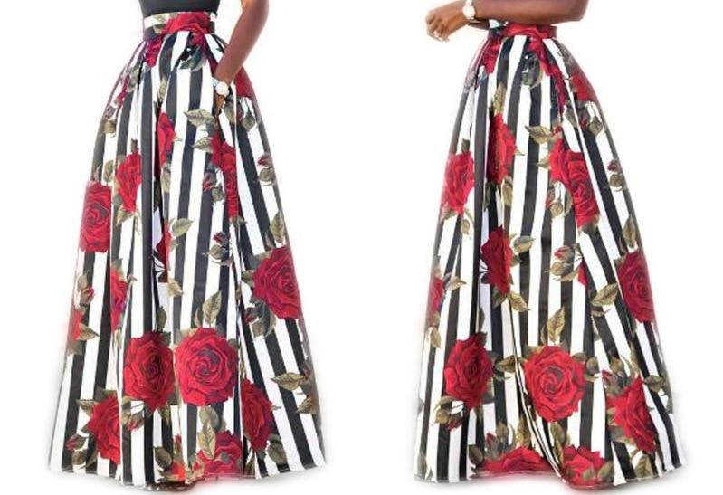 Women Long Maxi Skirt Autumn Summer Skirt Women's Skirts