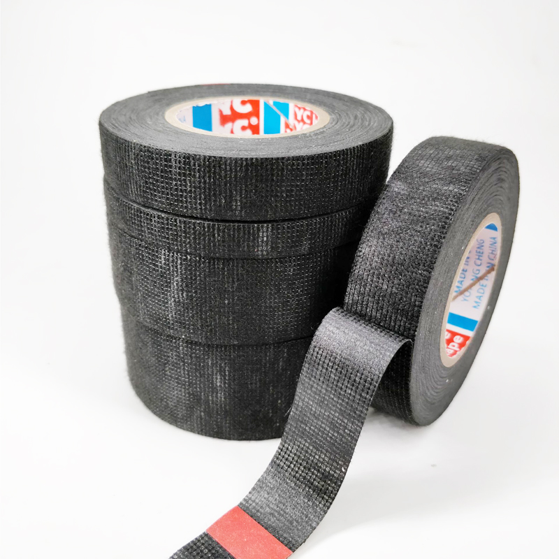 Hot Sale Tesa Type Coroplast Adhesive Cloth Tape For Cable Harness Wiring Loom  Width 9/15/19/25/32MM Length15M