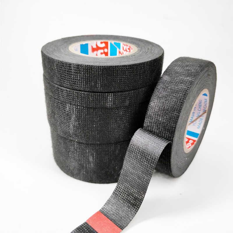 Новый Tesa Тип Coroplast клейкая лента из ткани для жгута проводов Ширина 9/15/19/25, маленького размера, круглой формы с диаметром 32 мм Length15M