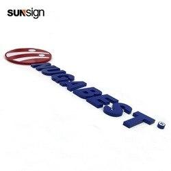 Nombre de tienda de publicidad de letras personalizado a prueba de agua