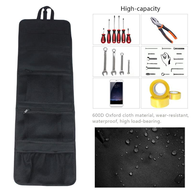 Multi-function Tool Bag  600D Oxford Cloth Waterproof Electrician Maintenance Toolkit Hardware Organizer Pouch