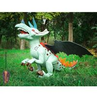 Hot Sell Walking Electric Dinosaur Robot Toy Luminous Electric Simulated Dinosaur Toy Remote Control Triceratops Model Toys