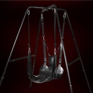 Image 2 - למעלה איכות סקס ריהוט אמיתי עור נדנדה למבוגרים SM משחק ערסל זוג סקס צעצועי מוצרים אספקת דוב 250 kg