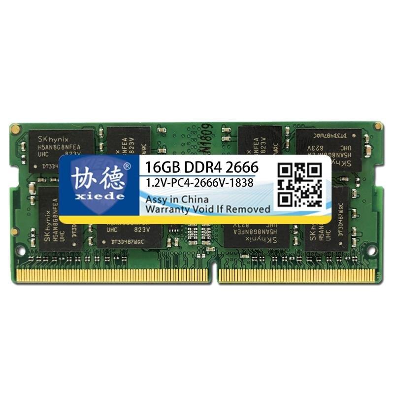 Xiede Ordinateur Portable Mémoire Ram Module Ddr4 2666 Pc4-2666V 288Pin Dimm 2666 Mhz Mémoire Portable