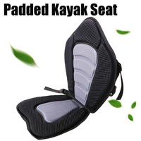 Deluxe Padded Kayak Boat Seat Portable Rowing Boat Soft Antiskid Padded Seat Adjustable Kayak Cushion with Backrest