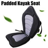 Deluxe Padded Kayak Boat Seat Portable Rowing Boat Soft Antiskid Padded Seat Adjustable Kayak Cushion with Backrest