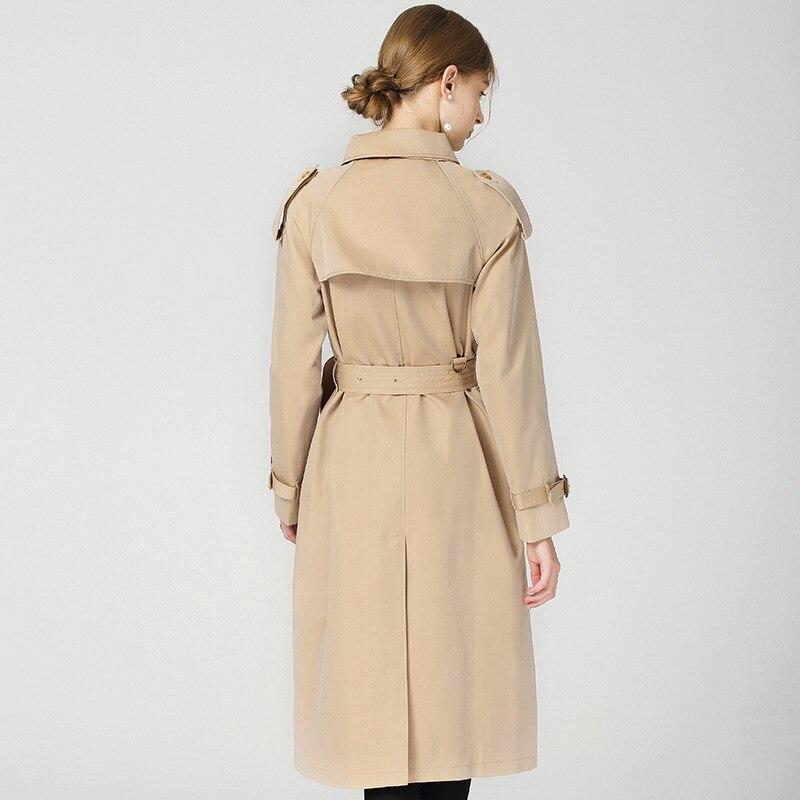 Classique Manteau Élégant Étanche Des Plaid Marque Design Vintage Automne Femmes 2018 Tranchée Nouveau B Long Khaki Britannique Hiver Sn8pPxaz