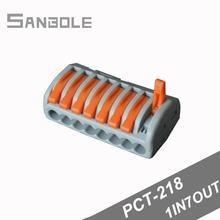 Pct 218 соединитель провода клеммные блоки подключение 8 отверстий