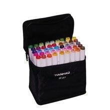 "CHENYU 168 צבעים אמנות סמני אלכוהול מבוסס עט כפול ראש סקיצה סמני עט מברשת ציור מנגה עיצוב בחו""ל מחסן"