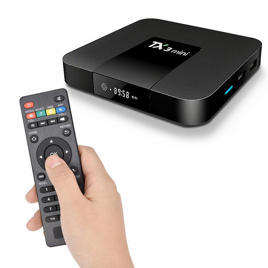 Media Player TX3 Mini Android TV Box 4K Amlogic S905W 2+16G WiFi BT STB Smart TV Box Home Multimedia Set Top Box with Remote