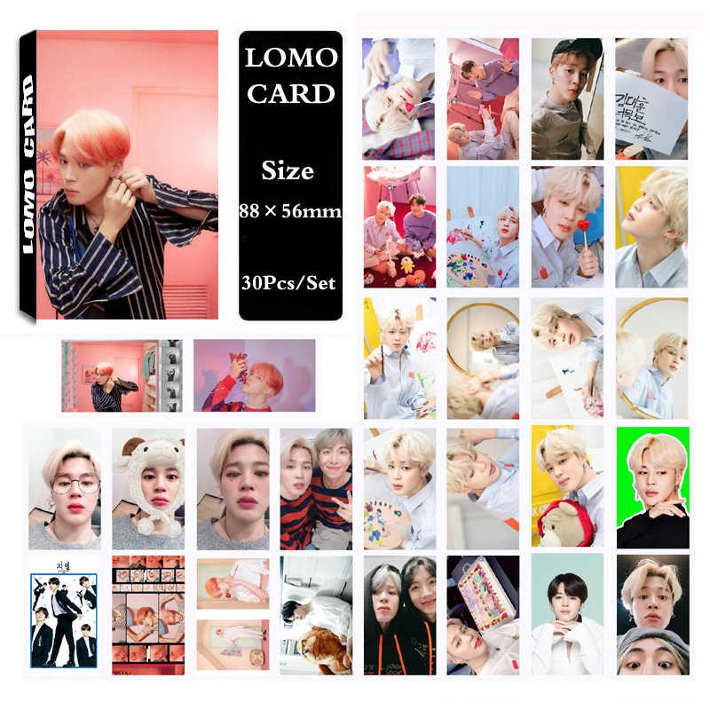 Kpop Bangtan Boys альбом карта душа Persona самодельные бумажные фото карты плакат Фотокарта Lomo карта Suga Jungkook