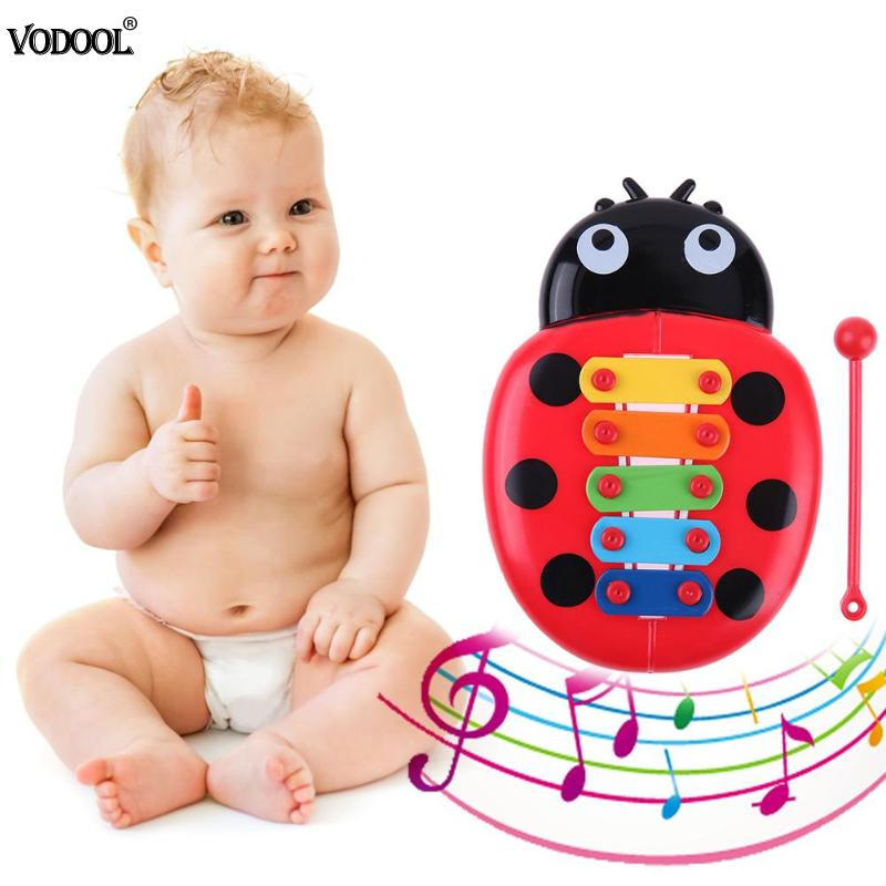 Five-Tone Farm Animal Sound Kids Piano Music Toy Musical Animals Sounding Keyboard Piano Baby Playing Type Musical Instruments