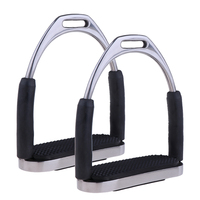 1Pair Stainless Steel Horse Saddle English Stirrups Horse Riding Accessories