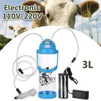 3L Электрический доильный аппарат корова; Коза; овца доялка один вакуумный насос ведро еда Детская безопасность уровень пластик доя