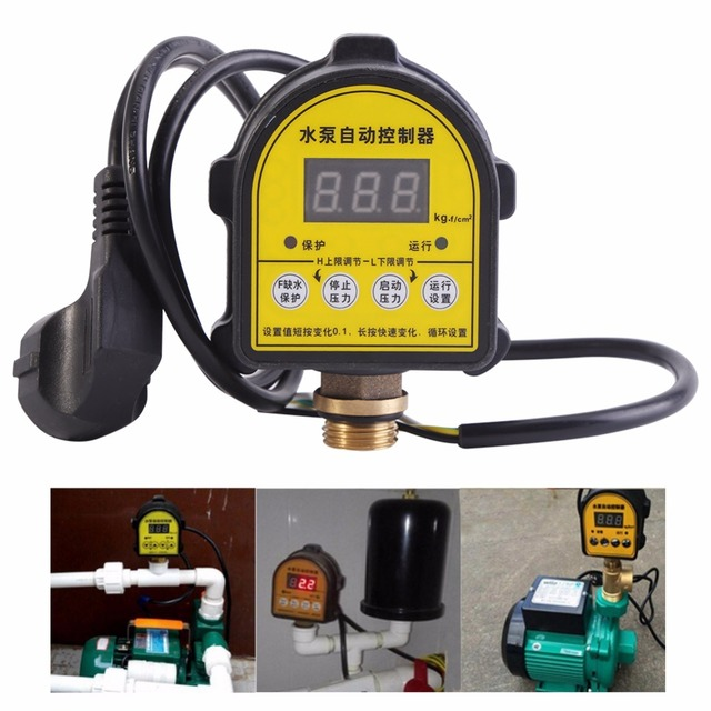 Digital Automatic Air Pump Water Oil Compressor Pressure Switch Controller for Water Pump 220V 10A Functional 0 10 Bar