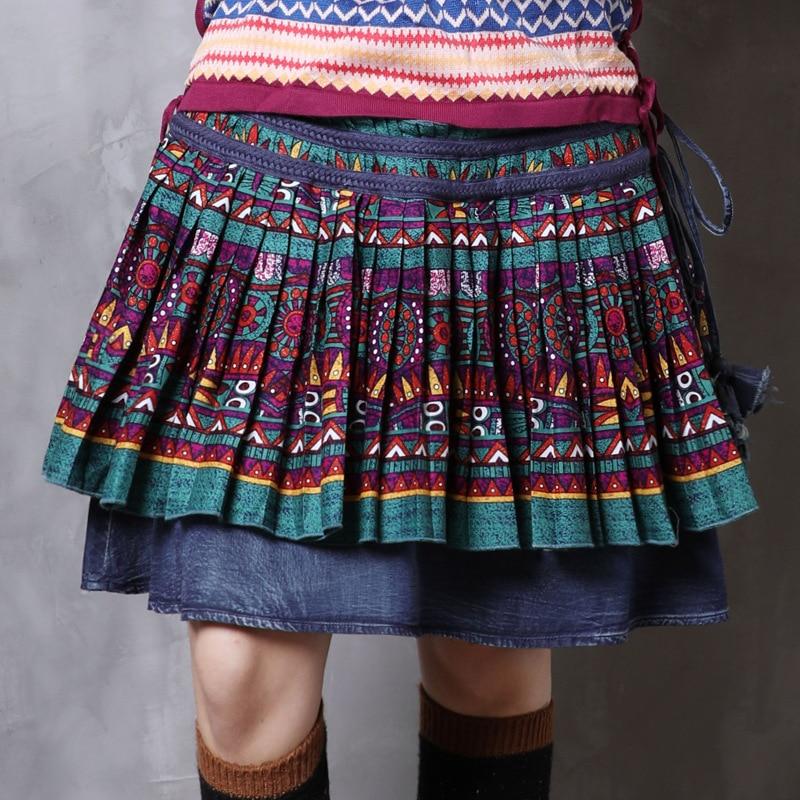 Alta Las Falda Color Verano Calidad Mujer Faldas Primavera 2019 Denim De Folk Mujeres Indie Vintage Moda Y Photo SSw8rq