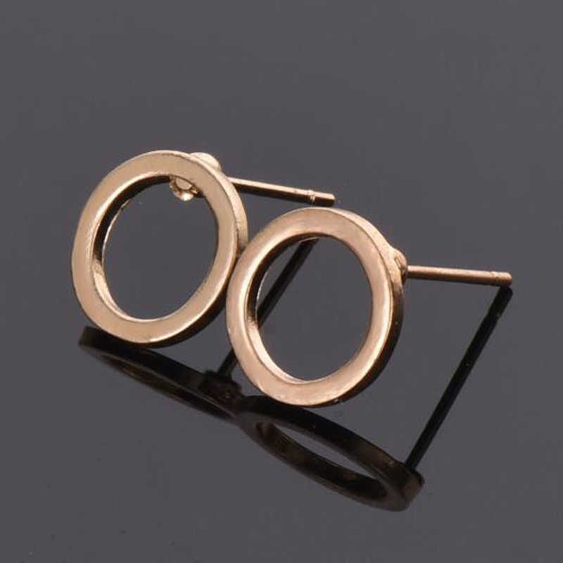 2019 Korean Jewelry Fashion Gold Silver Earring Simple Geometric Small Circle Earrings For Women For Gift Metal Earrings Brincos