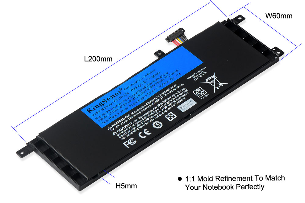 Image 4 - KingSener B21N1329 Laptop Battery for ASUS D553M F453 F453MA F553M P553 P553MA X453 X453MA X553 X553M X553B X553MA X403M X503M-in Laptop Batteries from Computer & Office