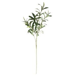 Image 2 - 1 * gefälschte Blume 6 gabel Künstliche Gefälschte Blumen Oliven Blatt zweig Olive Verlässt Laub Hause Dekoration Hochzeit Bouquets anlage