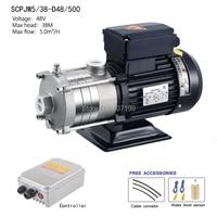 48V 500 watts pump solar, solar booster pump , pressure pump system, solar surface pump SCPJW5/38 D48/500