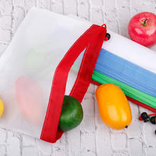 9pcs Reusable Mesh Produce Bags Washable Eco-friendly Bags For Grocery Shopping Storage Fruit Vegetable Storage Bag