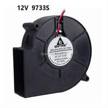 1 шт. высокое давление воздуха 2Pin 9733 97x33 мм 97 мм воздушный поток охладитель 12 В бесщеточный вентилятор постоянный ток вентилятор