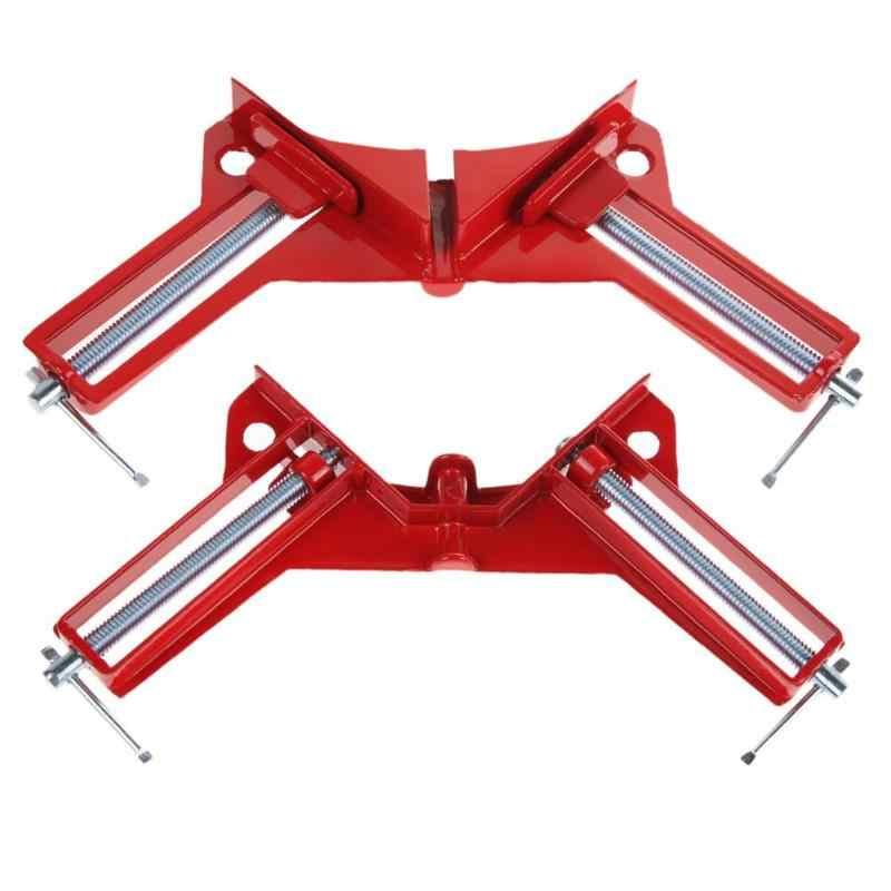 4 インチ 90 度直角クランプマイター直角クランプコーナークランプ画像ホルダー木工クランプ木工ハンドツール 100 メートル