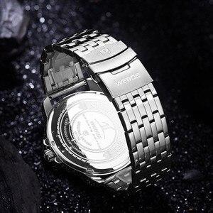Image 4 - WEIDE גברים שעונים ספורט צבאי רצועת לבן חיוג תנועה אנלוגי שעון קוורץ שעוני יד עמיד למים Relogio Masculino reloj