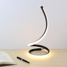 Настольная лампа с сенсорным выключателем и затемнением, Настольный светильник светодиодный, ночник, алюминиевый, для спальни, декоративный светильник, светильник для чтения