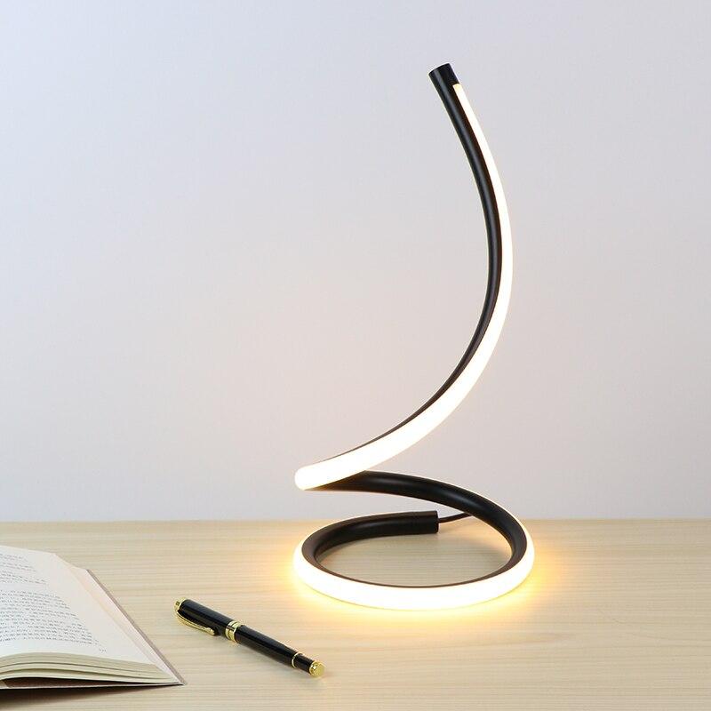 Desk lamp Touch ON/OFF Switch Dimming Table Light LED Night Light Aluminum Bedroom Beside Decorative Lighting Reading Light