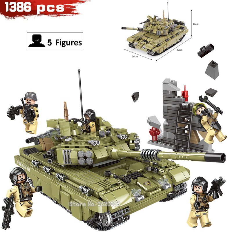 Toys & Hobbies Model Building Military Main Battle Tank Crawler Cannon Doll Assembling Building Blocks Children Toys Model Birthday Gift Education Legoinglys