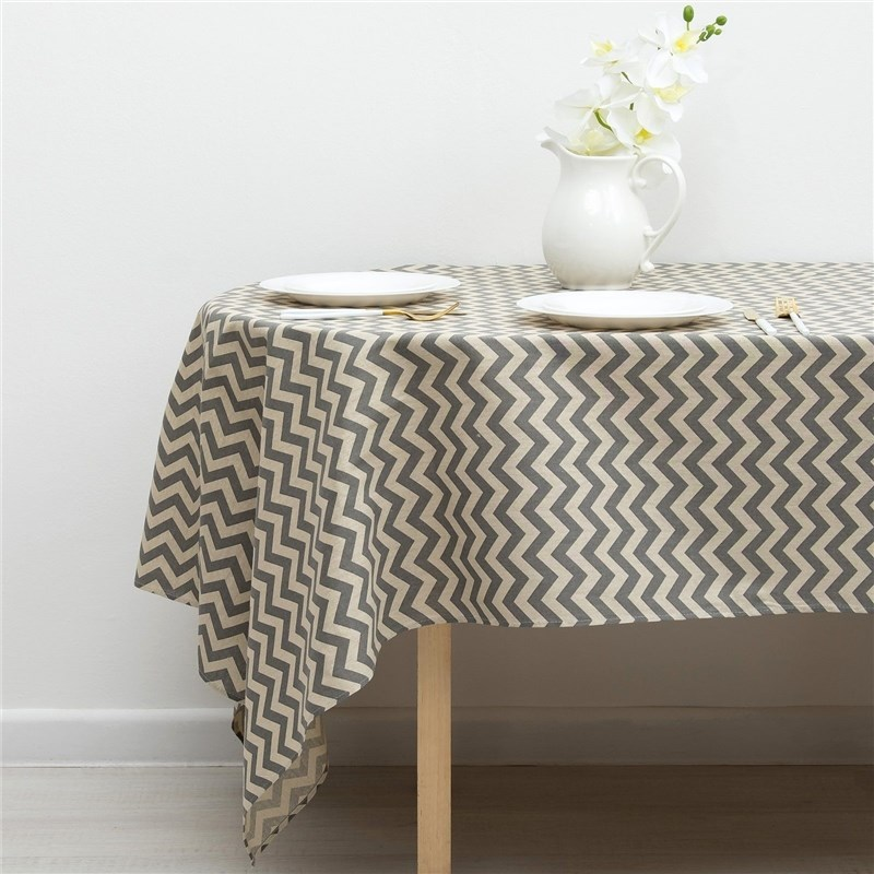 Tablecloth Доляна 145х145см, Zig Zag Ser, 100% PE, рогожка 200 C/M 3580538 plus size zig zag pattern fringed poncho sweater