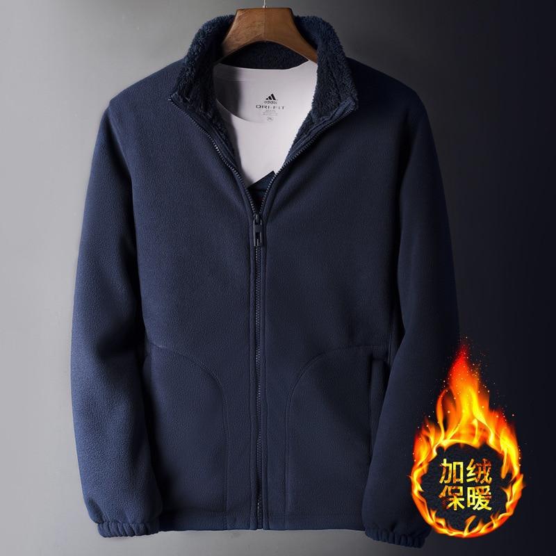 Clothing Sweater Coat Trekking Inner-Tank Fleece Outdoor Winter Camping Sports Men Cargo