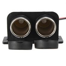 1 Pc Dual Ports 12V Universal Motorcycle Cigarette Lighter Socket Adapter Power Plug Socket Handlebar Mount 1 to 2 cigarette power socket spliter individually relocatable