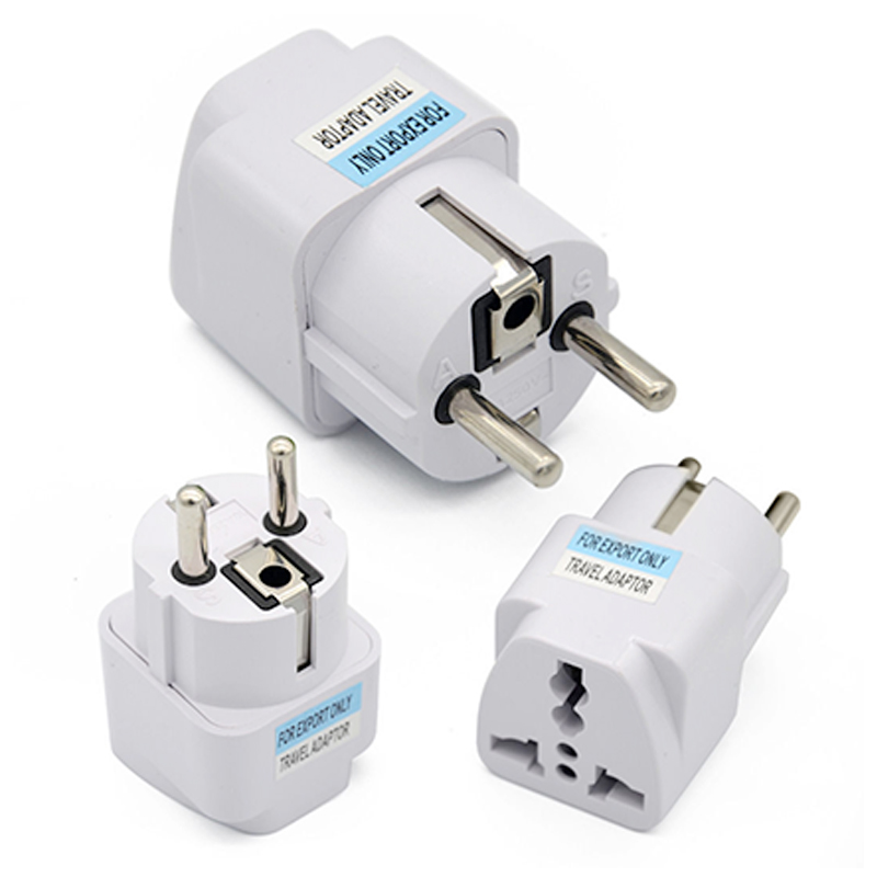 Adapter Socket  Plug  Converter  Travel  European  Portable  Power  UK US AU To EU