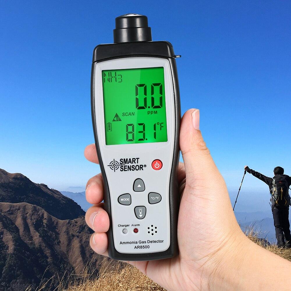 SMART SENSOR Ammonia Detector Ammonia Gas Meter Digital Portable Automotive Ammonia Gas Tester Monitor NH3 Detector