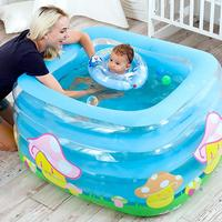 Baby Bath Tub Kids Bathtub Portable Inflatable Cartoon Safety Thickening Washbowl Baby Bath For Newborns Keep Warm Swimming Pool