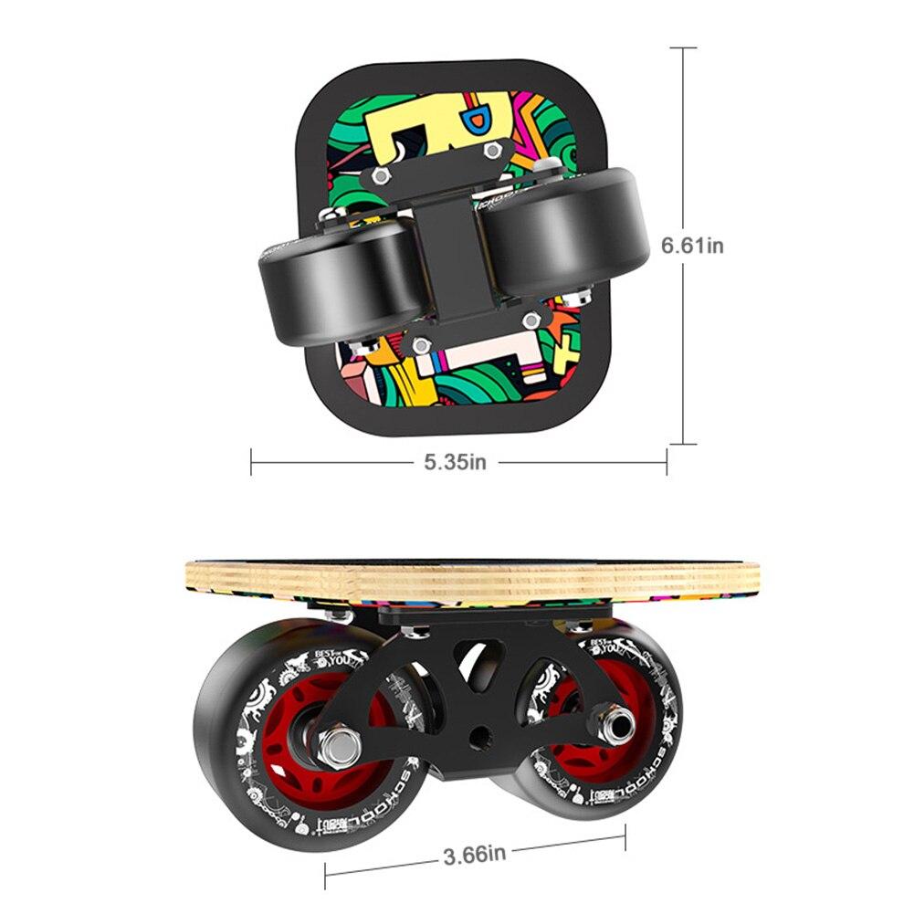 1 paire planche de skate Drift board skate pour Rouleau Route Dérive Plaque Anti-dérapage Sport de Planche À Roulettes D'érable Pédale roues pu