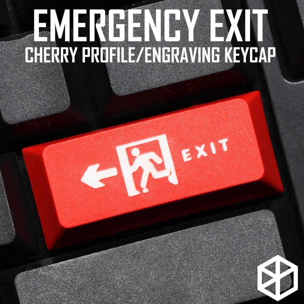 Novelty Cherry Profile Dip Dye Sculpture Pbt Keycap For Mechanical Keyboard Laser Etched Legend Exit Enter Black Red Blue