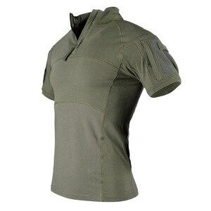 Image 3 - TACVASEN Men Camouflage ยุทธวิธีเสื้อยืดฤดูร้อนด่วนแห้งกองทัพทหารต่อสู้เสื้อยืดแขนสั้น Camo Airsoft TOP Tees 3XL